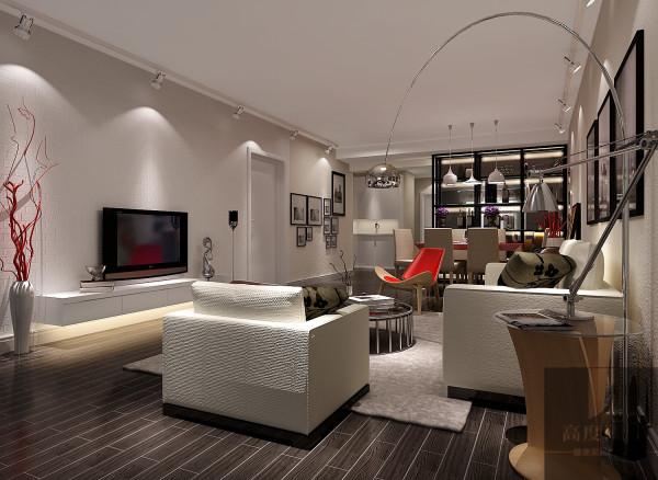 这个装修中最重要的就是墙面的处理,使用传统的小红转砌的电视背景墙加墙面刷的艺术漆给整个空间带来时尚的复古风,配合浅色的布艺沙发将这种复古加以稳定