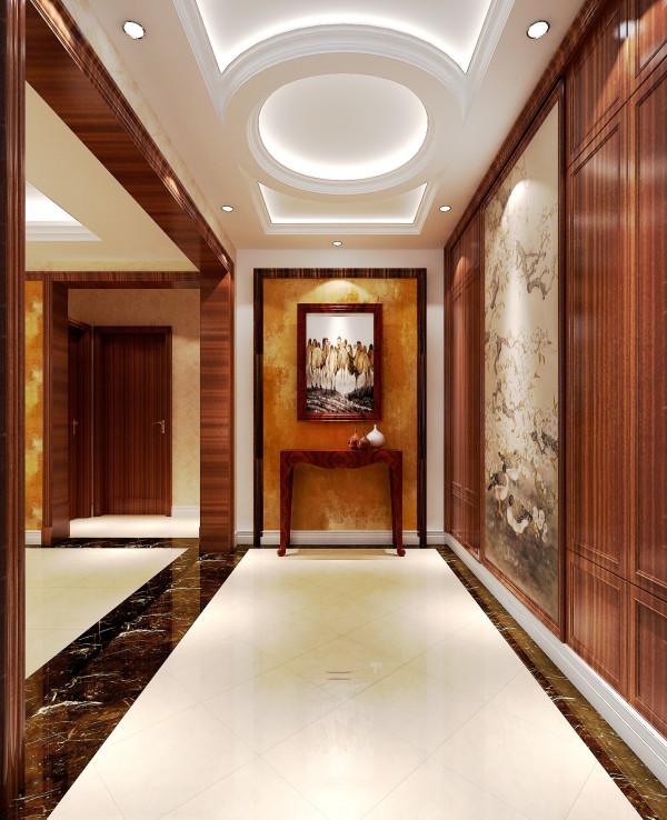 门厅的设计突显了设计的生活理念,将进门的鞋帽柜和书房的储藏间的柜子一分为二,使得生活需要和功能上得需要,都得到了很好 的利用。设计就是追求实用,就是追求完美!