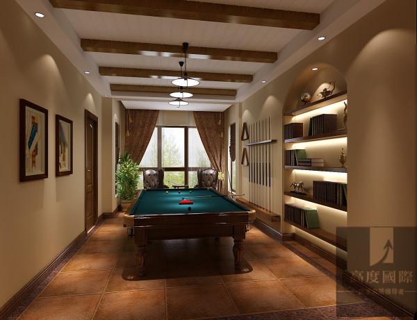 休闲区 选择托斯卡纳风格,主要基于以下两方面考虑:一是考虑别墅的整体设计风格,本身带有浓郁的乡村风格,石质墙体、铁艺护栏、红色陶土屋等,这些都是托斯卡纳风格的典型特点。二是考虑业主个人品味、修养等因素
