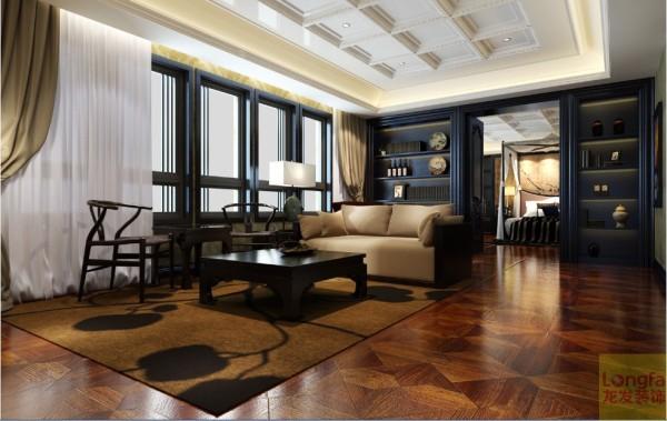 客厅的陈设配饰以传统风格和现代实用为依托,让整个空间在貌似古典却处处显露着明快的现代风格,并延伸出新的形式、采用新的方式、新的搭配手法,让空间表露出典型的东方色彩。