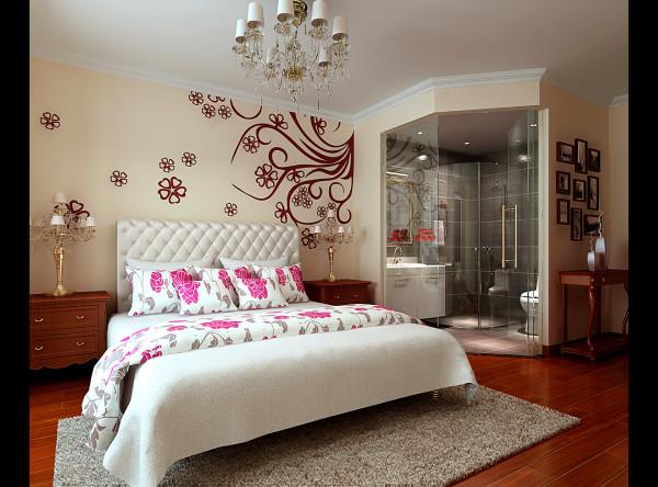 墙面壁纸,家具和软装饰来营造整体效果。让空间更显开阔明朗,这样巧妙运用既符合现代生活要求,幽静而又生动,恰到好处,又充满浪漫,和谐的生活气息。
