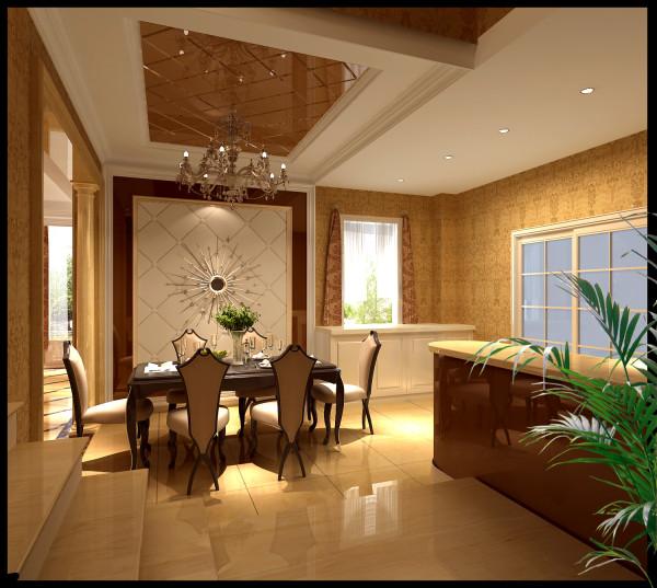 把简欧风格表现的淋漓尽致,一层主人作为开放式的厨房,使室内的空间显得更通透,自然,明亮,酒水边柜在功能上解决了储物,更增加了美观的效果