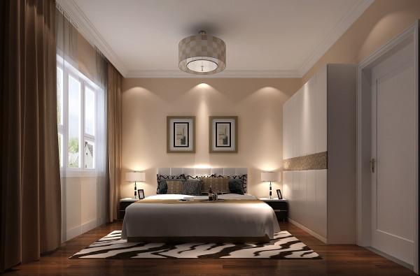 8哩岛现代中式风格别墅——卧室效果图。