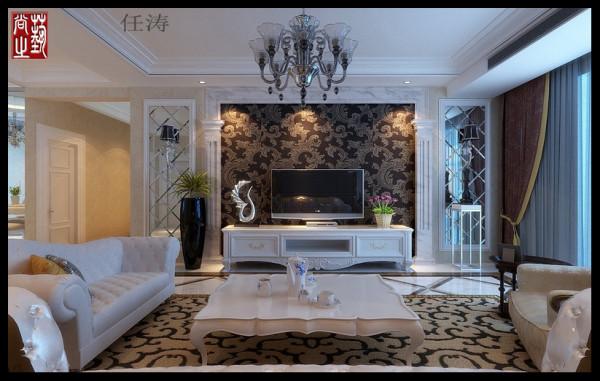 1、客厅:客厅的空间清新简约 色彩鲜明彩衬着雅致大气的电视墙银镜 在大方中彰显高贵,时尚。重色系的软包及装饰品与银镜的完美结合, 于清新中带有贵气。