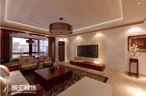 【西安朗汇装饰】三居室新中式风格餐厅效果图赏析