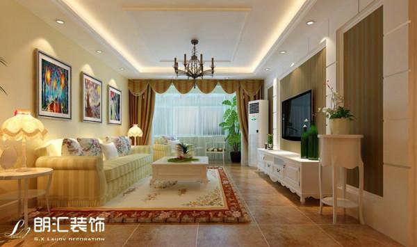 【陕西朗汇装饰】田园风格两居室客厅效果图赏析