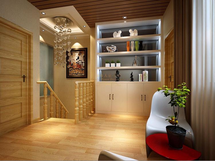 简约 现代 复式 楼梯 三居 装修效果图 客厅图片来自西安城市人家装饰