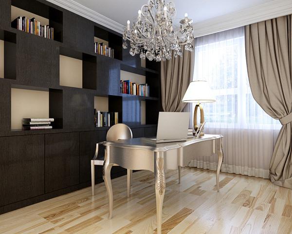 本设计注重细节的设计和用色墙面简单干脆利落在表达时尚的同时不缺乏艺术感。