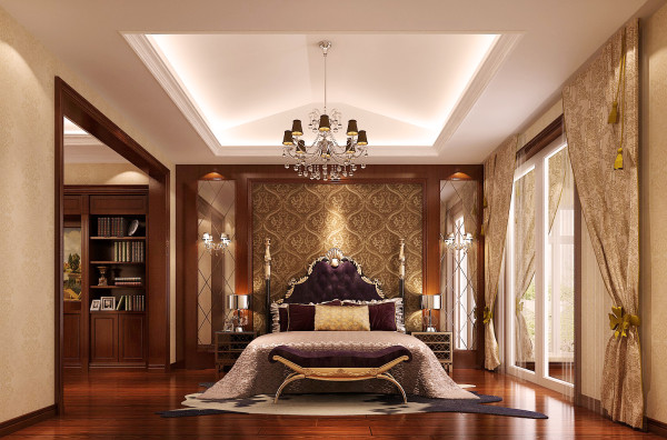用欧式配饰与欧式家具来打造的优雅细腻的休息空间,也与整个设计相吻合