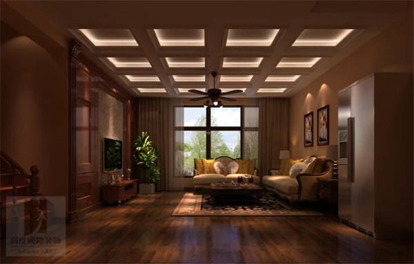 在功能划分上,利用瓷砖与木地板的结合,别墅级的工人完美的结合了两种材质和高度上的差异,是整个在同一水平上。