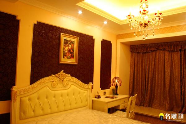 名雕装饰设计-首府别墅-简欧风格卧室