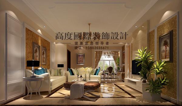 是主人品味的象征,体现了主人品格,地位,也是交友娱乐的场合,沙发背景墙只做了简单的处理,用简单的装饰画来点缀,是整个空间更富有现代气息。