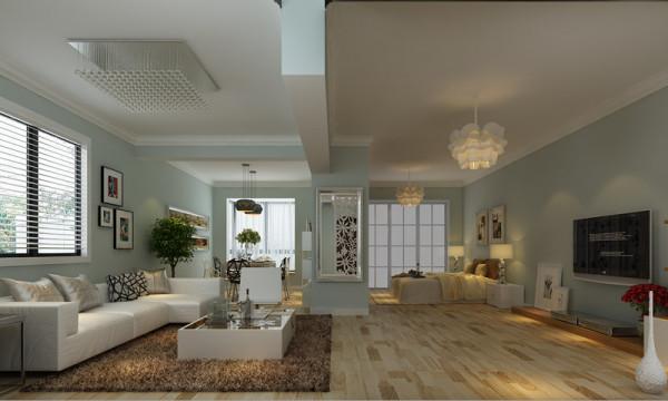 两个卧室的非承重墙全部打掉,成为一个非常宽敞的空间。