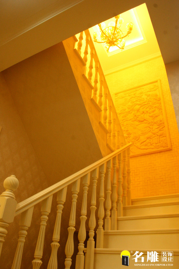 名雕装饰设计-首府别墅-简欧风格楼梯