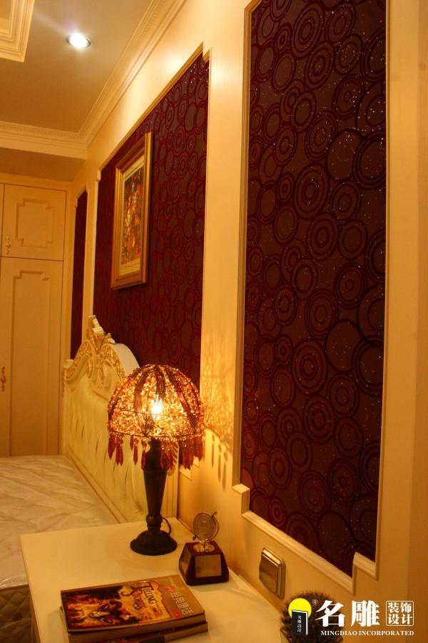 名雕装饰设计-首府别墅-简欧风格卧室墙面设计