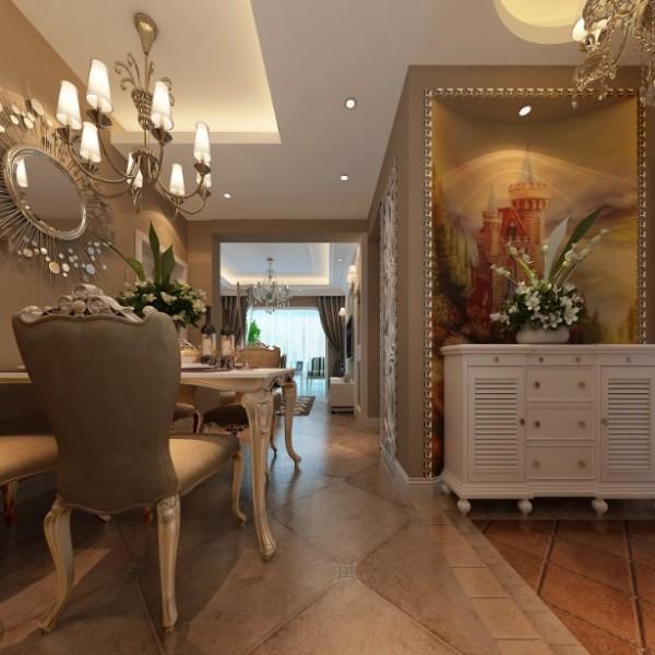 郑州实创装饰-阳光城88平两居室-餐厅效果图