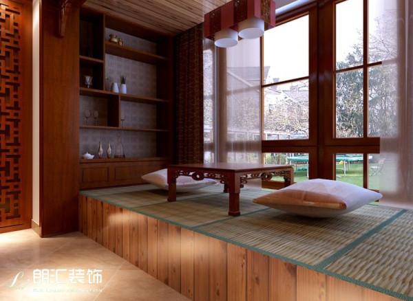 【西安朗汇装饰】三居室新中式风格阳台效果图赏析
