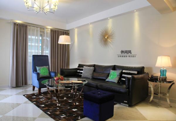 90平旧房为您打造新风格——探索《现代.休闲风》——辛诚花园——客厅全景