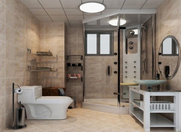 干湿分区外,淋浴房旁的墙上多做几个挂件,既不占空间,又能保证日常生活用品有足够地方安置并且保持干爽。