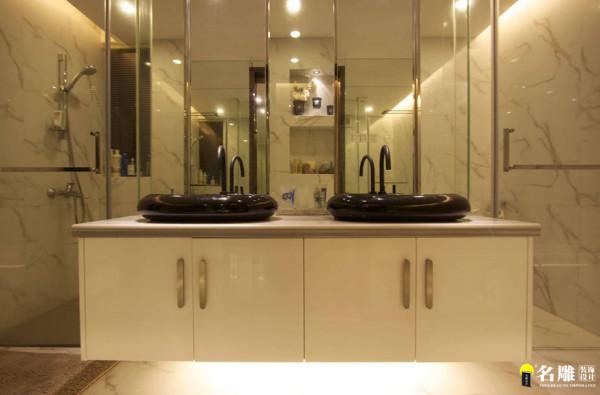 名雕装饰设计-现代简约卫生间