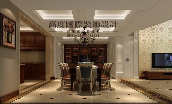 简洁温馨的空间里,传统欧式家具的奢华与现代家具的实用性完美的结合,把主人的独特风格和喜好都体现了出来。