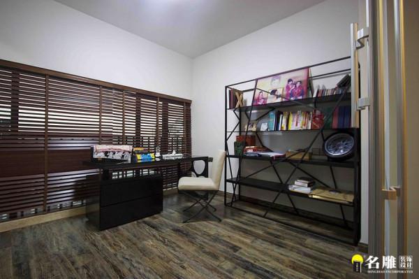 名雕装饰设计-桑泰丹华三期四居室-混搭风格-书房