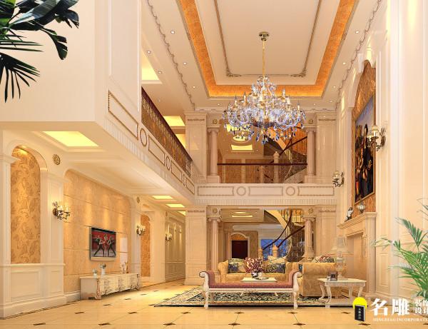 别墅欧式双层高客厅