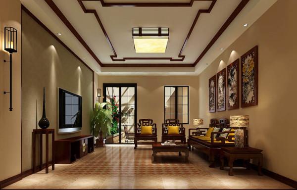 影音室 整体的色彩厚重和大方,颜色、空间层次分明让整个影视厅的视觉焦点落在沙发上,突出了托斯卡纳的贵族生活的精致、细腻、奢华、规则。墙上带有故事性、主体性的图案装饰让整个屋子呈现出托斯卡纳的文化气息。