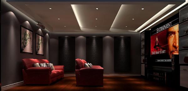 影音室,几何线条修饰,外立面简洁流畅,立面立体层次感较强,体现时代特征为主,没有过分的装饰,一切从功能出发,讲究造型比例适度、空间结构图明确美观,强调外观的明快、简洁。
