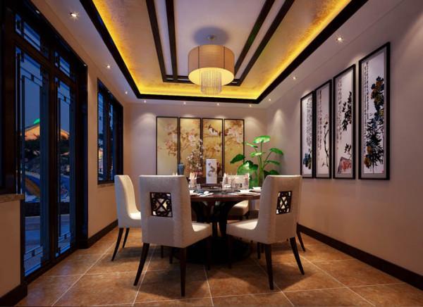 餐厅的设计,在色彩上体现了一种自然的色调。古香古色的餐桌敦敦实实的摆在那儿,旁边的椅凳并非完全的木质结构,配以一些软性装饰,将古典美注入简洁实用的现代设计,使得空间富有灵性,古典穿越岁月,活色生香。