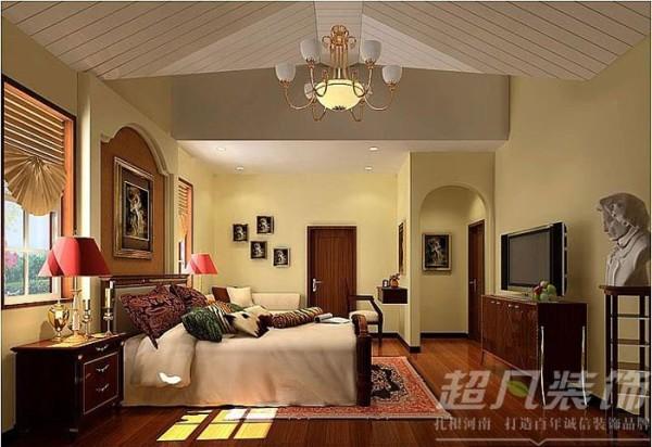 龙湖新城300平米美式田园风格别墅装修效果图案例