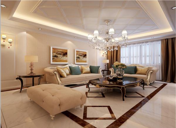 及流畅的木质曲线,将传统欧式家居的奢华与现代家居的实用性完美地结合。壁炉自然不可或缺,它被安置在空间结构的交汇处,与一幅色彩鲜艳的油画相呼应,敞开式的客厅提供了一个视觉中心。