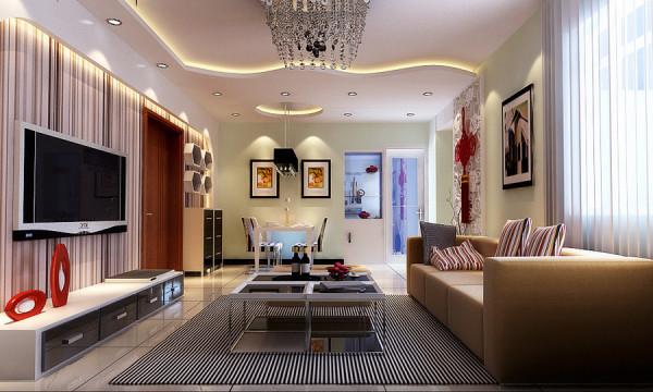 郑州实创装饰-升龙国际96平两居室-餐厅效果图