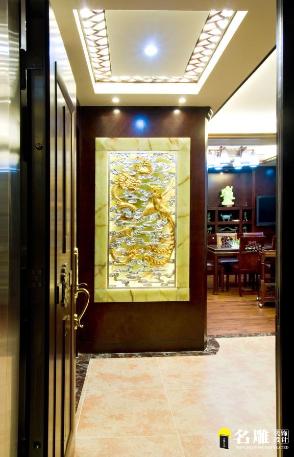 名雕装饰设计-鸿景翠峰二居室雅居-中式屏风
