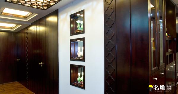 名雕装饰设计-鸿景翠峰二居室雅居-中式客厅餐厅转角
