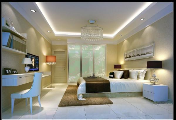 郑州实创装饰-蓝天小区120平三居室-卧室效果图