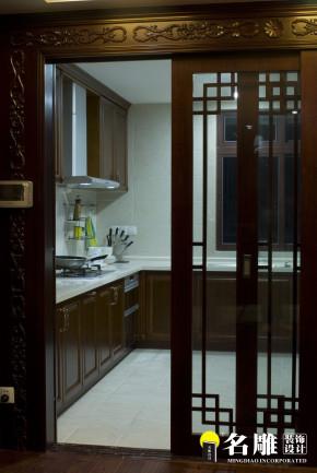 中式 三居 文艺青年 东方雅居 名雕装饰 东方尊峪 厨房图片来自名雕装饰设计在现代中式-200平三居室东方雅居的分享