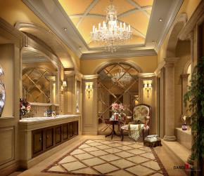 欧式 别墅 高富帅 白富美 公主房 名雕丹迪 兰乔圣菲 卫生间 卫生间图片来自名雕丹迪在欧式古典—500平奢华别墅装修的分享