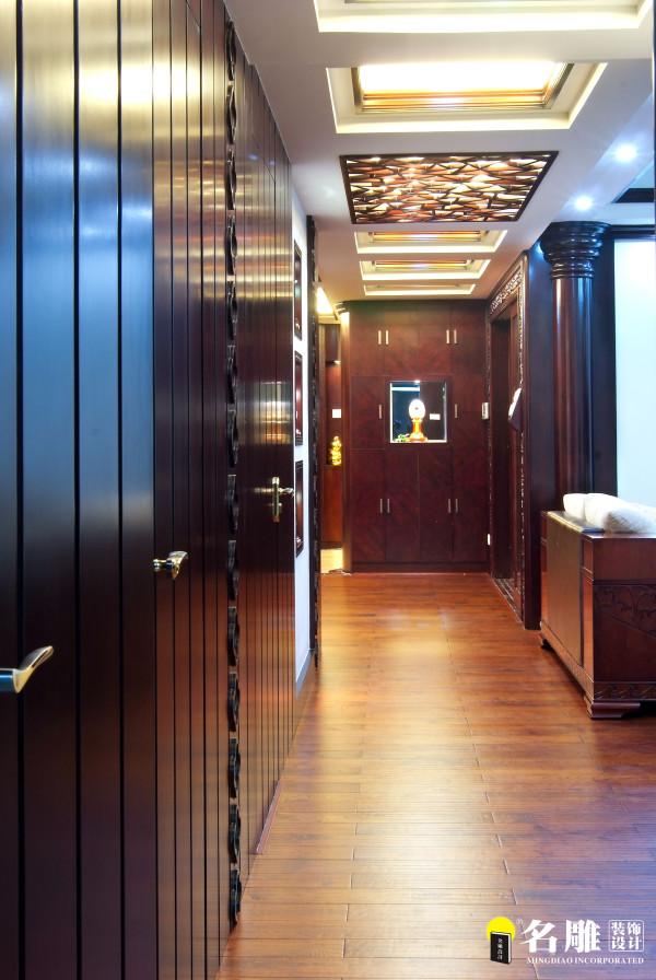 名雕装饰设计-鸿景翠峰二居室雅居-中式过道