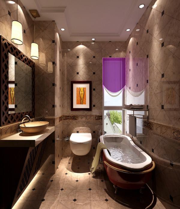 根据业主喜好,风格定为中式与泰式混搭,设计师把原有中式家具放在效果里面,配上中式雕花、哑光砖以及色彩明亮的中式壁画,门厅客厅餐厅效果协调统一。