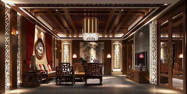 会客厅格局方正,家私摆放为中国古典的围合式,四面设有厅窗,将室外的庭院景观引入室内,使室内外融为一体。颇有清风明月本无价,近水远山皆有情的意境,同时也体验着家的温馨与融洽。