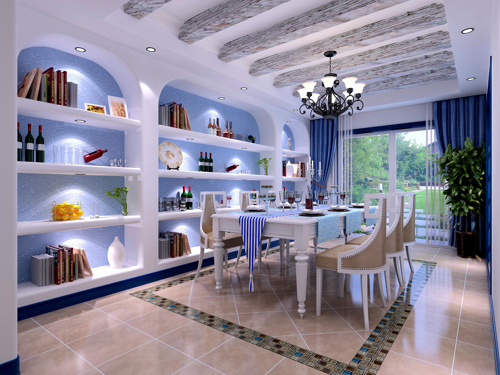 地中海蓝色 蓝色风格 北京装修 高度国际 别墅图片来自高度国际装饰华