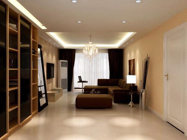 成都实创装饰—绿地世纪城117平米A2户型—新古典风格—客厅装修效果图