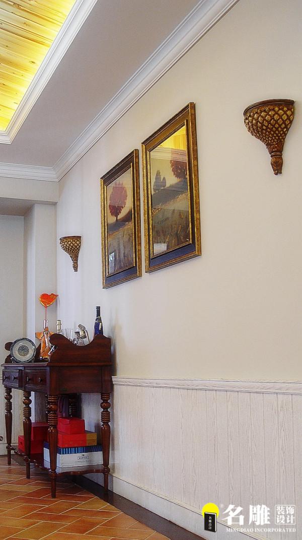 名雕装饰设计-中信红树湾三居室-地中海风格墙面壁画