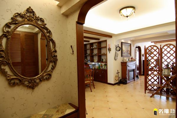 名雕丹迪设计-硅谷别墅-美式风格-客厅餐厅交汇