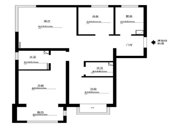 房山区熙悦山95平米原始户型图