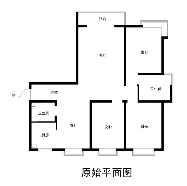 鑫鑫嘉园130平米原始户型图