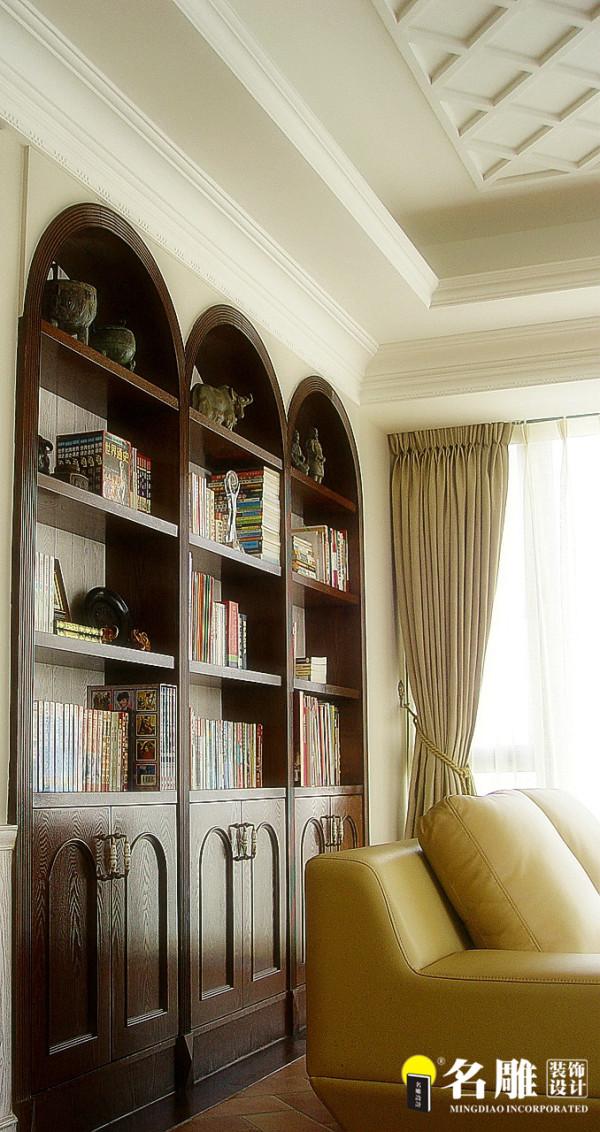 名雕装饰设计-中信红树湾三居室-地中海风格书房