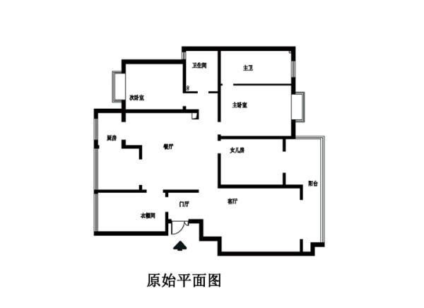 丰台区怡海花园190平米原始户型图