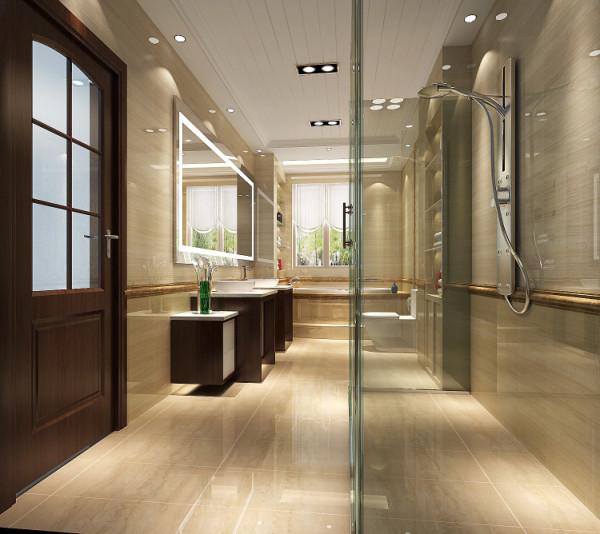 卫生间的通透设计 是采光变得明亮 但又不失私密